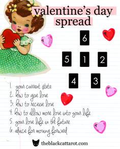 Valentine's Day Love Tarot Spread - Love spread perfect for Valentine's Day!