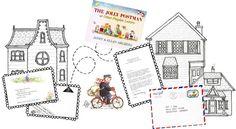 The Jolly Postman printables Kindergarten Writing, Kindergarten Activities, Book Activities, Literacy, Teaching Maps, Teaching Reading, Writing Area, Letter Writing, Jolly Christmas Postman