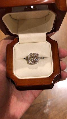5 Stunning Wedding Ring Trends in 2020 Dream Engagement Rings, Halo Diamond Engagement Ring, Diamond Rings, Wedding Ring Cushion, Stacked Wedding Rings, Wedding Ring Designs, Wedding Ideas, Lab Created Diamonds, Ring Verlobung