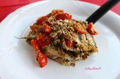 Teglia di alici e pomodorini - Anchovies and tomatoes