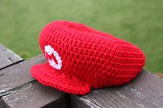 free crochet pattern mario hat adult size