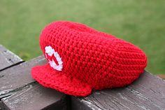 free crochet pattern mario hat adult size