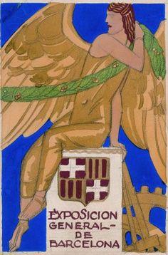 By Rafael de Penagos, ca 1 9 3 6, gouache and pencil on cardboard.