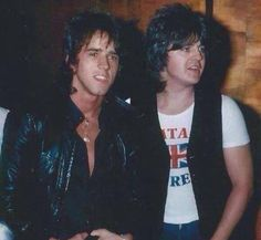 Stuart Woody Wood and Eric Faulkner Bay City Rollers, John Wood, City Boy, Pop Rock Bands, Jon Bon Jovi, Woody, Blue Eyes, Blues, Teen
