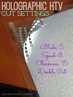 How to Cut Holographic Heat Transfer Vinyl (Free Cut File & Coupon Code) ~ Silhouette School
