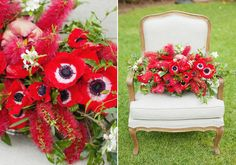 If you are looking for some red wedding inspiration, or even ideas for your Christmas dinner table, bam! Here you go. Poppies, roses, bottle bush, and anemones… have your pick. Come to think of it, we don't see enough red in weddings these days. It's a bold color, but thankfully photographer Angela Higgins and florist Flower Talk are sharing […]