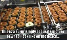 I doughnut tan nicely