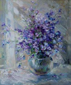 Purple accents, by Russian artist, Oksana Kravchenko (1971) Russia, Novouralsk