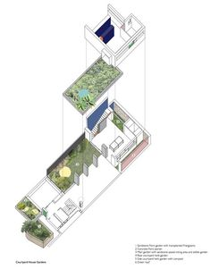 Courtyard House,Axonometric