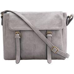 Grey Buckle PU Shoulder Bag (365 ZAR) ❤ liked on Polyvore featuring bags, handbags, shoulder bags, purses, accessories, bolsas, grey, purse shoulder bag, gray purse and handbags purses