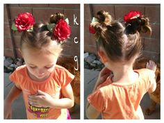Bow buns with flowers!