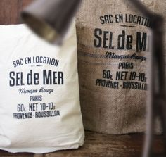 The Great Indoors » Gunny Sacks  /Sale Price [RM]: 30 for burlap, 37 for calico fabric