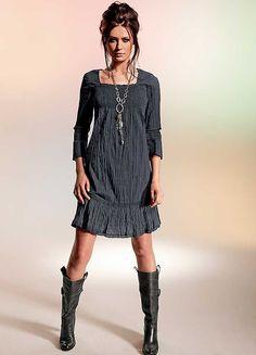 Square Neckline Crushed Dress
