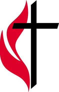official cross and flame logo of the united methodist church rh pinterest com UMC Cross and Flame united methodist cross and flame clipart