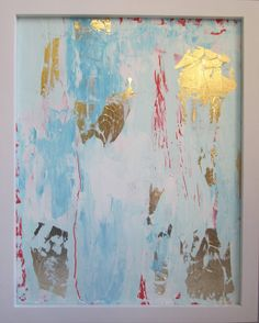 Gold Leaf Abstract Painting Gold, via Etsy.