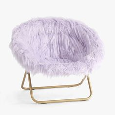 Fuzzy Chair, Faux Fur Bean Bag, Lavender Room, Purple Rooms, Purple Bed, Light Purple, Dark Blue, Teen Girl Bedrooms, Teen Bedroom