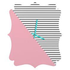http://www.denydesigns.com/products/allyson-johnson-pink-n-stripes-quatrefoil-clock