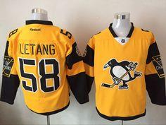 Penguins 58 Kris Letang Gold 2017 Stadium Series Reebok Jersey