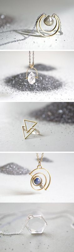Etsy seller FoxtailBoutique does magical things with basic geometric shapes (we especially like the pieces with spinning parts). #etsyjewelry