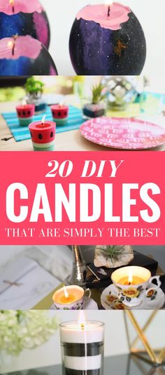20 Easy DIY Candles To Make - Learn how to make fantastic homemade candles that looks gorgeous and easy to follow tutorials. They include step by step ways on how to make different kinds of candles. Absolutely the most unique diy projects and BEST candles out there!