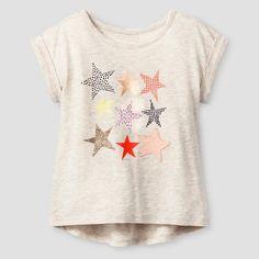 Toddler Girls' Stars Graphic T-Shirt - Oatmeal Heather - Cat & Jack™ : Target