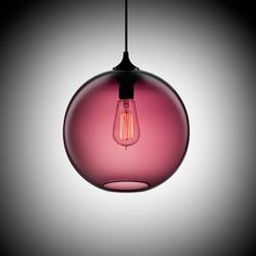 Round Lamp: A beautiful round lamp hand blown.  I think my favorite is the big filament bulb.