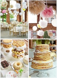 Yummy. love the crepe displayed like this. Great for christening, shower, mother's day brunch
