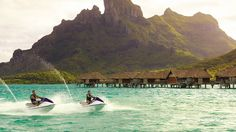 Now this looks fun, and the scenery isn't bad either.  Four Seasons Resort Bora Bora  #Lifetherapy_HankyPanky