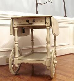 chalk paint tea cart - Google Search