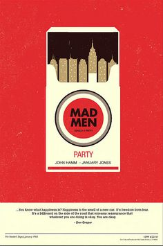 Mad Men poster design by Olly Moss
