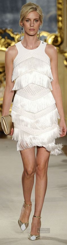 Elisabetta Franchi.Spring-summer 2015. Nothing like a little fringe to up the sexy