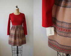 vintage 1960s dress / nos vicky vaughn dress / 60s boho dress / nwt dress / small medium