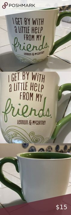 I Get By With a Little Help From My Friends Cup A collectible cup flor sure. To remember their incredible music and talent. Great gift Hallmark Other Lennon And Mccartney, Online Thrift Store, Thrifting, Great Gifts, The Incredibles, Friends, Music, Amigos, Musica