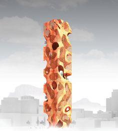 eVolo's 20 Most Innovative Skyscrapers,The Habitable Obelisk / Jun Hao Ong. Image Cour tesy of eVolo