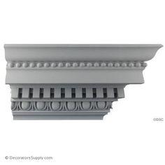 x - Repeat: - Roman Crown Molding Design - [Plaster Material] Plaster Mouldings, Plaster Art, Moldings, Decorative Plaster, Decorative Mouldings, Fireplace Surrounds, Fireplace Mantels, House Outside Design, House Design