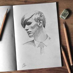 "Páči sa mi to: 2,597, komentáre: 17 – Miroslav Zgabaj (@miro_z_art) na Instagrame: ""Sketchbook  #face #portrait #sketch #sketchbook #paper #pencils #pencil #drawing #pencilsketch…"""