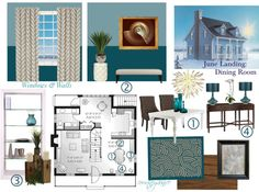 """""""June Landing: Dining Room"""" by courtneydanice on Polyvore"""