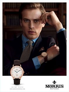 Jules Raynal is a sharp vision for Morris' fall-winter 2017 watches campaign.