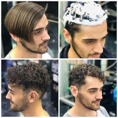 Men's Hair, Hair Art, Perm Hair, Men Perm, Curly Perm, Short Textured Hair, Different Types Of Curls, Undercut Pompadour, Disconnected Undercut