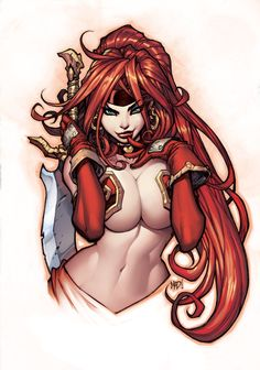 joe madureira art | pinuparena:Art by Joe MadureiraColor by Ryan Kinnaird