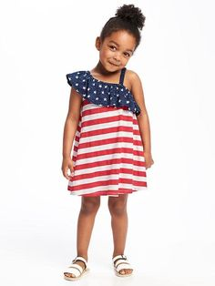 Ruffled One-Shoulder Dress for Toddler