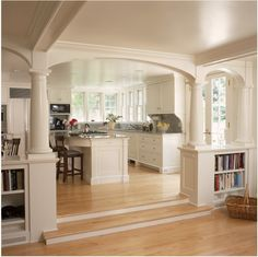Arch shape for Kitchen and Living room Division.