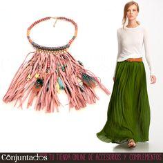 El #collar Cherokee es un precioso y original #complemento de #estilo #étnico que ilumina con su suave colorido cualquier #outfit que te pongas. Combina con multitud de tonos y da un toque único a #looks de todo tipo ★ Precio: 19,95 € en http://www.conjuntados.com/es/collares/collar-cherokee-de-estilo-indio.html ★ #novedades #necklace #joyitas #jewelry #bijoux #accesorios #moda #fashion #style #GustosParaTodas #ParaTodosLosGustos
