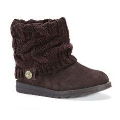 MUK LUKS Patti Women's Ankle Boots, Size: 10, Dark Brown