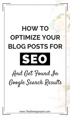 Not familiar with SEO but want to rank on Google and be found by search engines? Learn how to craft an SEO friendly blog posts in 7 easy steps! seo tips for bloggers.