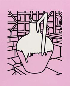 Patrick Caulfield (British, Jug, Screenprint on wove paper, 660 x 550 mm. James Rosenquist, Negative Space Art, Still Life Artists, Claes Oldenburg, Pop Art Movement, Jasper Johns, Andy Warhol, Book Design, Screen Printing
