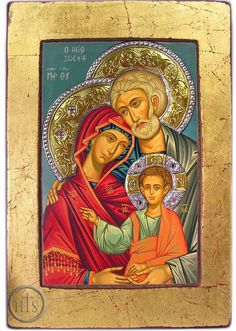 """""""Entrusting today and the future, whatever it may hold, to the intercession of the Holy Family. Religious Images, Religious Icons, Religious Art, Anima Christi, Jesus Mary And Joseph, Saint Joseph, Virgin Mary Art, Greek Icons, Byzantine Icons"""