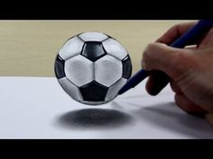 drawing tips Trick Art on Paper Soccer ball - Easy 3d Drawing, 3d Art Drawing, Easy Drawings For Kids, Paper Drawing, Drawing Skills, Drawing Techniques, Drawing Tips, Paper Art, Drawing Ideas