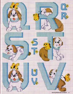 Marilda Croche: Monogramas de Cachorrinhos