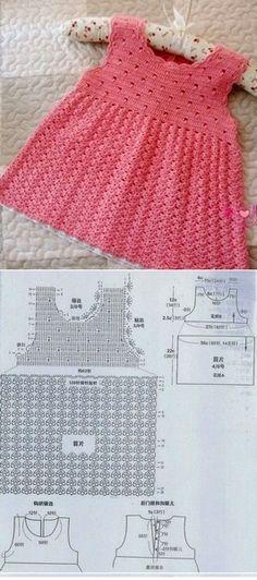 Fabulous Crochet a Little Black Crochet Dress Ideas. Georgeous Crochet a Little Black Crochet Dress Ideas. Crochet Baby Blanket Beginner, Crochet Baby Dress Pattern, Crochet Bebe, Baby Girl Crochet, Crochet Baby Clothes, Crochet Patterns, Knitting For Kids, Crochet For Kids, Baby Knitting